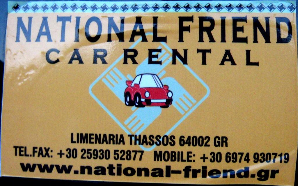 National Friend Car Rental