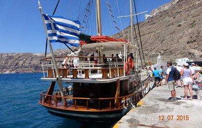 Okružní plavbu končíme opět v přístavu Athinios.
