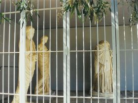Gortys - sochy ve vedlejším areálu