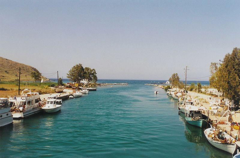 Georgioupoli - soutok říčky s mořem