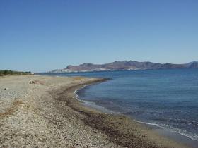 z pláží Lambi je vidět Turecký Bodrum