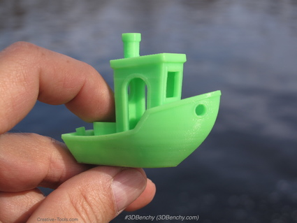 (1) 3d printed  3dbenchy by creative tools.com