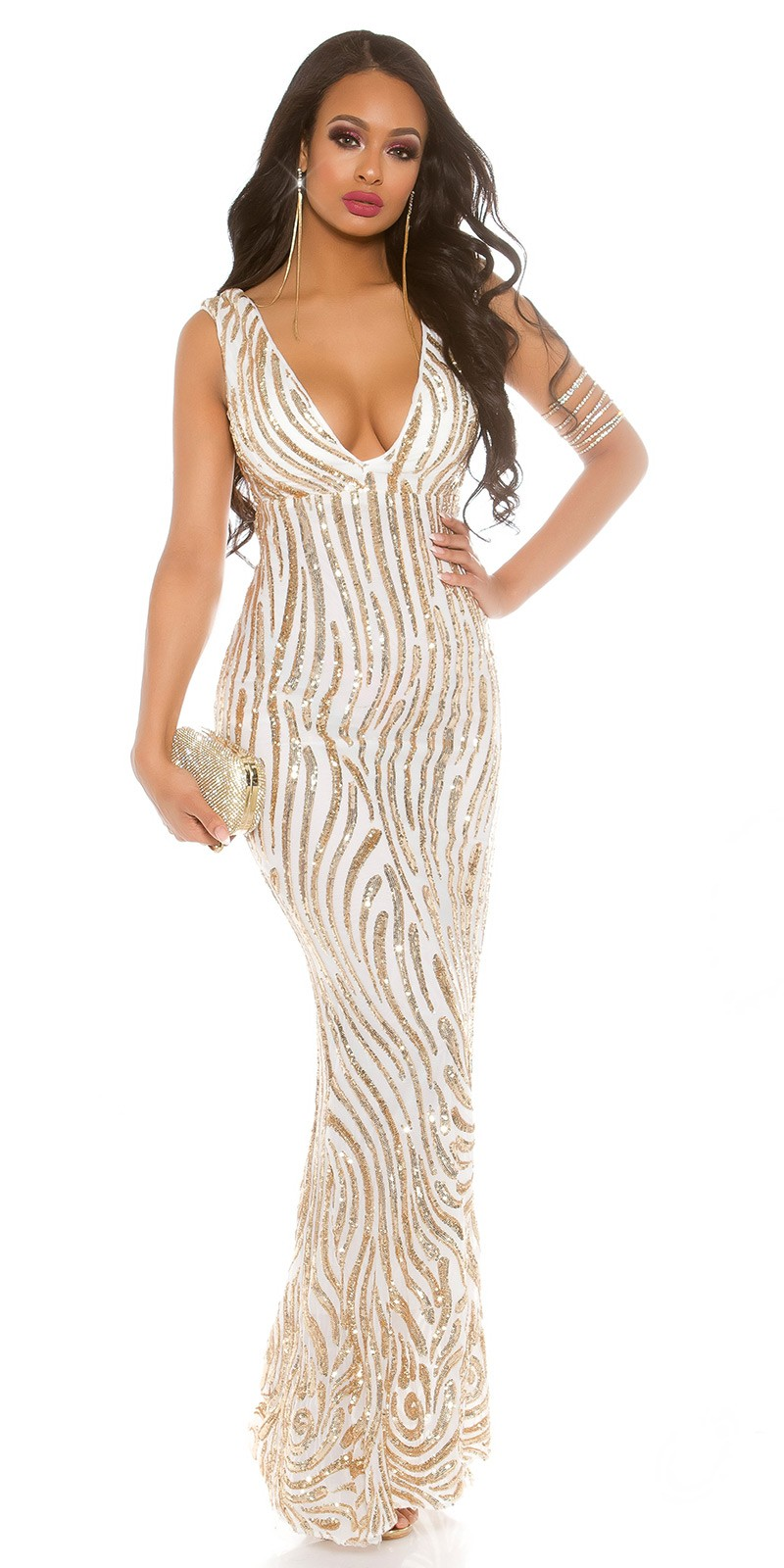 Red Carpet Look! Sexy KouCla evening gown