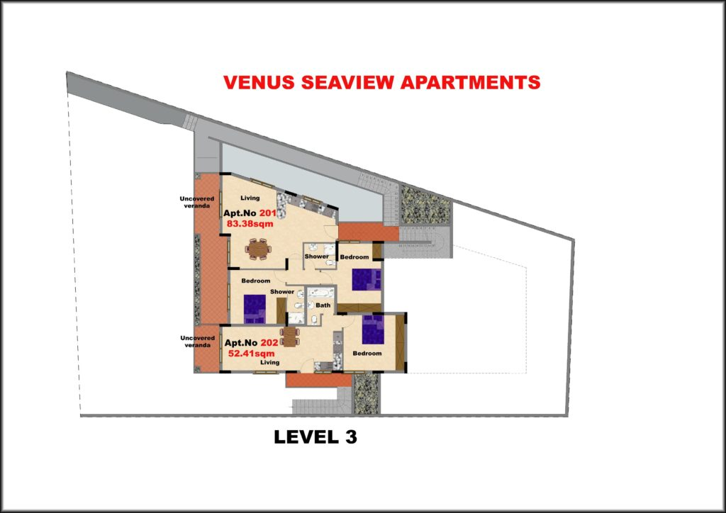 Level 3 Venus seaview apartments