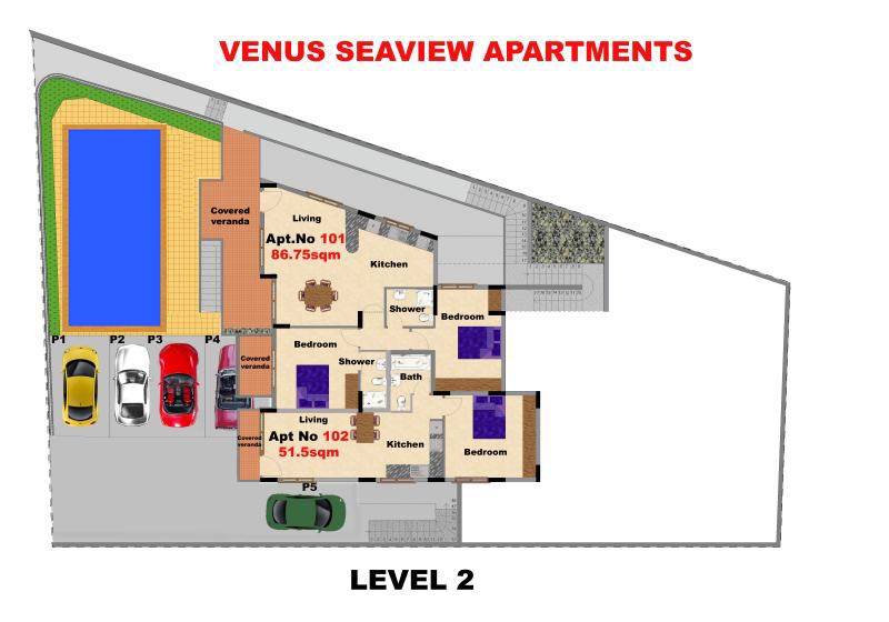 Level 2 Venus seaview apartments_800x560