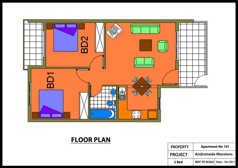 ANDROMEDA MANSIONS Apartment No 101-2 Bed Colour Plan_800x565