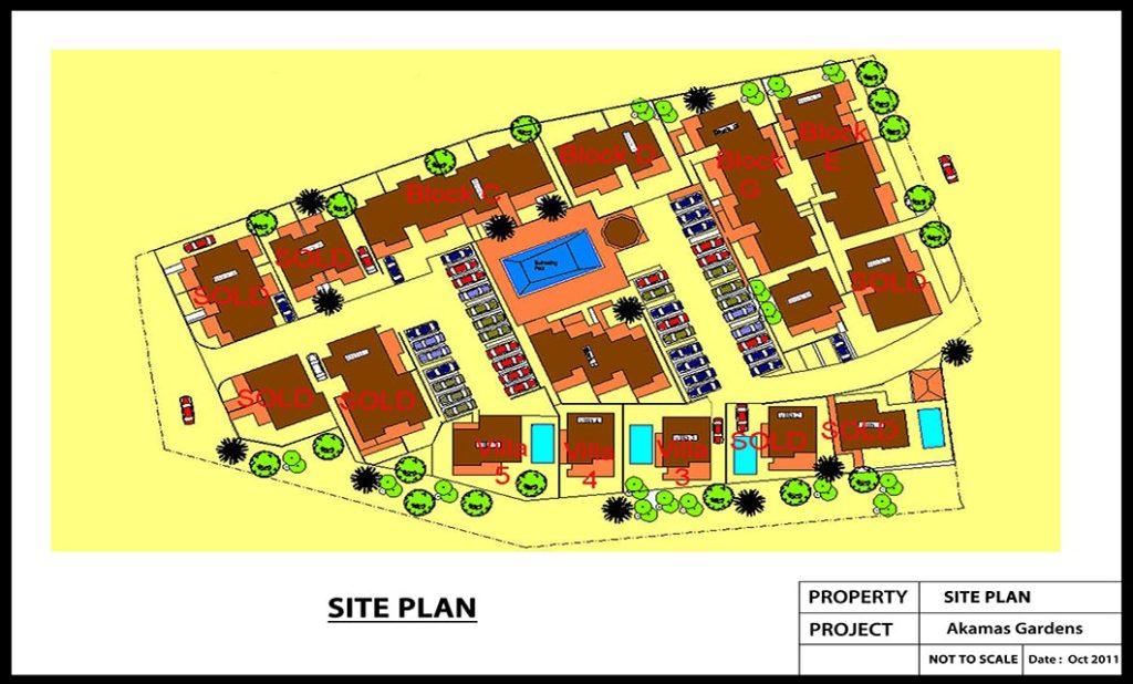 AKAMAS GARDENS Site Colour Plan