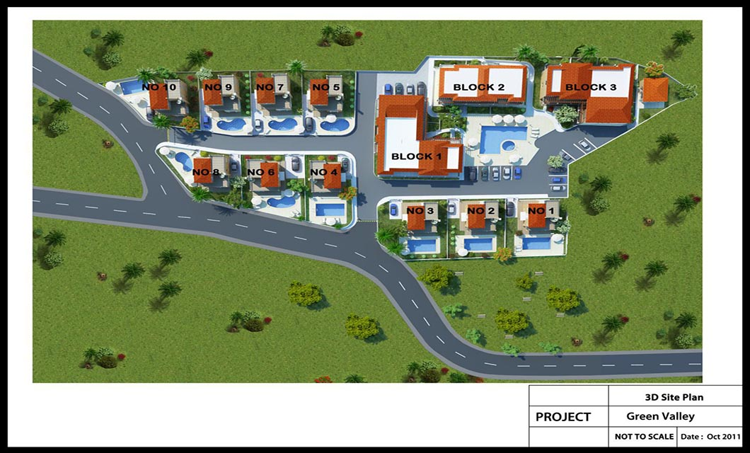 Green Valley Colour site Plan