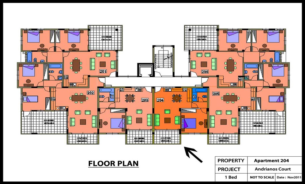 Andrianos court Apartment No 204 - 1 Bed Colour Plan_1131x800