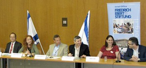 Open Debate about Young Adult Policy for Israel at the Knesset with MK Stav Shaffir, Prof. Andy Furlong from England and Dr. Werner Puschra, Director of FES Israel, May 2014