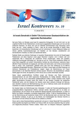 Israel Kontrovers Nr. 10
