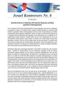 Israel Kontrovers Nr 6