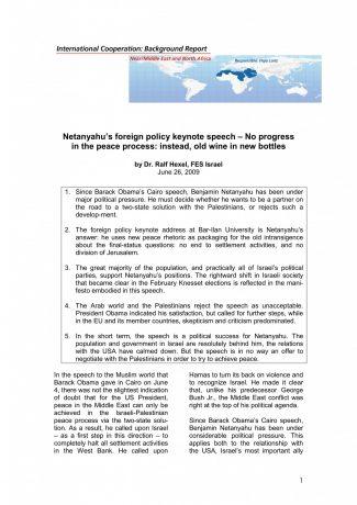 Netanyahu Foreign Policy Speech