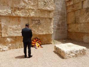 Oppermann at Yad Vashem, May 2015