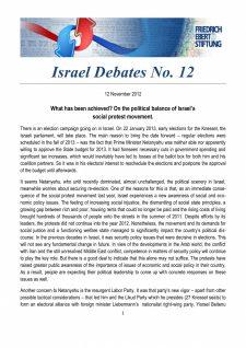 Israel Debates 12