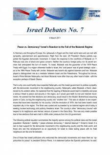 Israel Debates 7