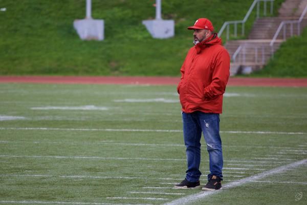 Rebels head coach Vasily Dobryakov during the game