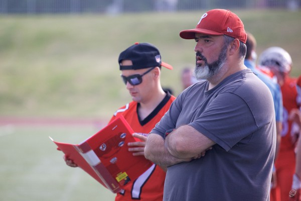 Rebels head coach Vasily Dobryakov and offensive coordinator Sergey Velitchenko