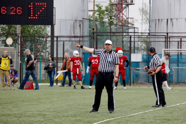 May 23, 2015 / Troitsk, Moscow Region, Russia / Referee Kirill Chekhov during the game / © First&Goal (firstandgoal.ru) / Mikhail Klaviaturov