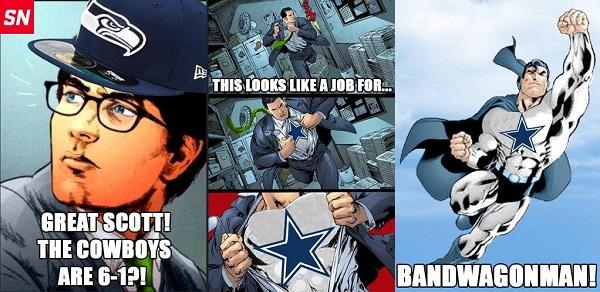Bandwagon Seahawks Cowboys Meme