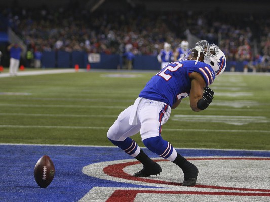 Fred Jackson of the Buffalo Bills celebrates scoring a touchdown