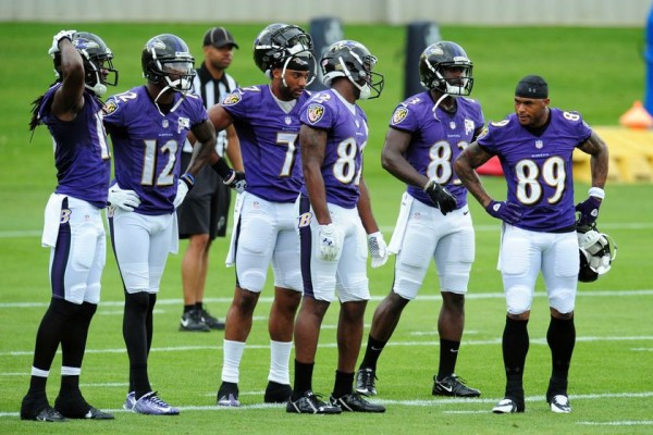 Steve Smith and other Ravens receivers