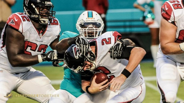 Miami Dolphins sack Matt Ryan