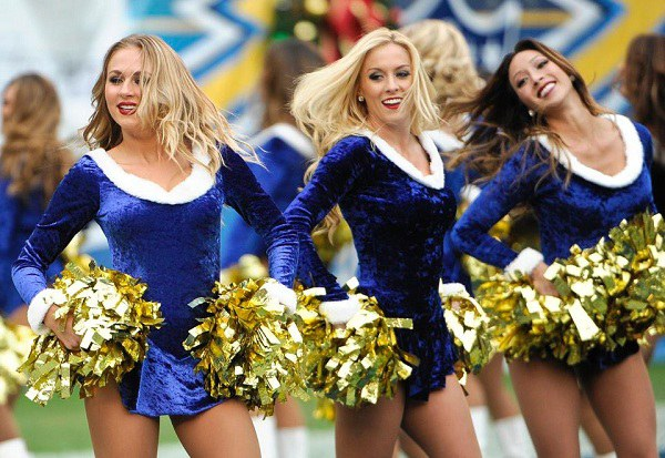 Chargers Christmas Cheerleaders