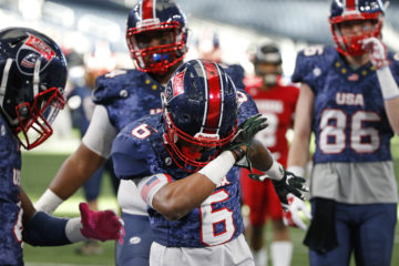 Team USA played Team Canada in USA Football's International Bowl at AT&T Stadium on Sunday January 31, 2016. (Photo by Ron Jenkins)