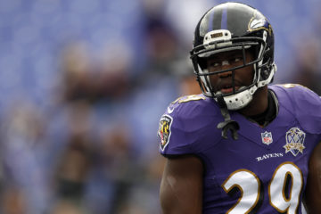 BALTIMORE, MD - NOVEMBER 1: Running back Justin Forsett #29 of the Baltimore Ravens looks on prior to a game against the San Diego Chargers at M&T Bank Stadium on November 1, 2015 in Baltimore, Maryland. (Photo by Matt Hazlett/Getty Images)