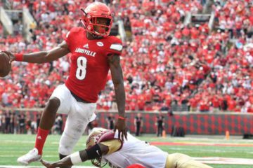 Lamar Jackson ran for four touchdowns and threw for another in Louisville's win over Florida State. Jamie Rhodes/USA TODAY Sports