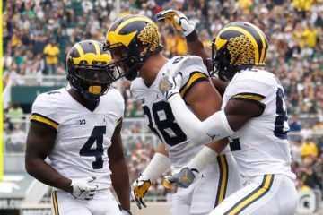 Michigan received a first-place vote in the final AP Poll before the first CFP rankings. (Photo by Gregory Shamus/Getty Images)