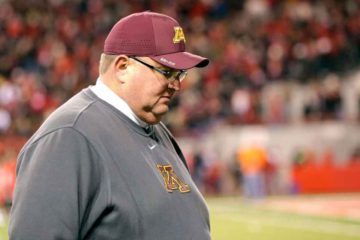 Minnesota fired coach Tracy Claeys on Tuesday, just over two weeks after the program became embroiled in a standoff with the administration over the suspension of 10 players in connection with allegations of sexual assault. AP Photo/Nati Harnik