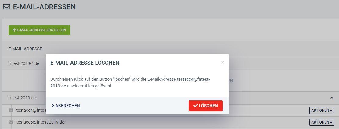 Emails löschen