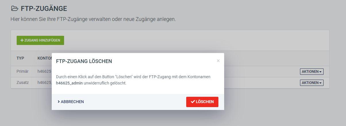 FTP löschen