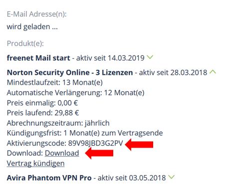 Schritt 4 Norton Aktivierungscode wird nicht akzeptiert