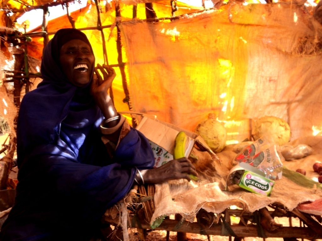 Beneficiary started a grocery shop in Marsabit, photo by Halkano Boru