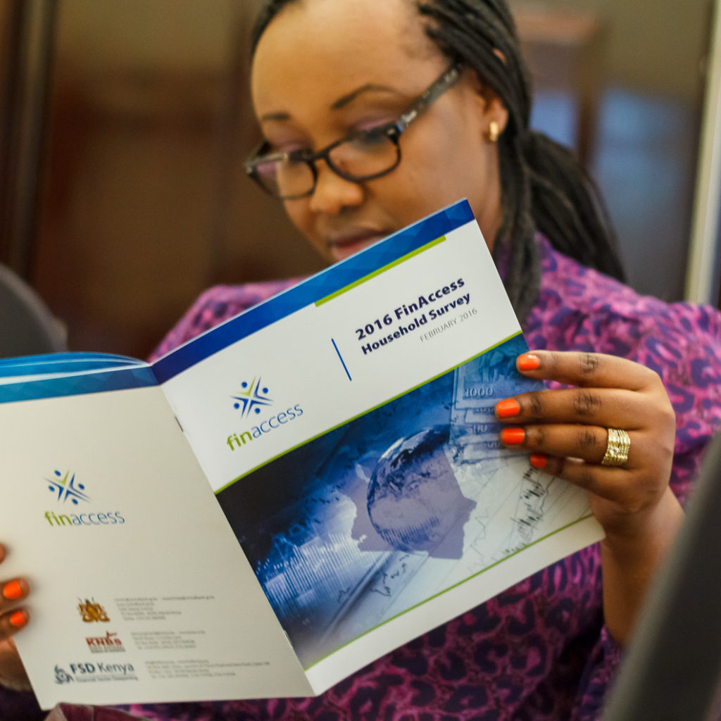 The launch of the Financial Access Report 2015 by Financial Sector Deepening in Nairobi Kenya.