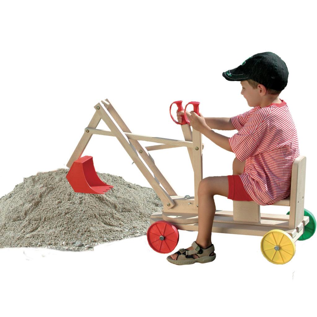 kinderspielzeug bagger aus massivem buchenholz. Black Bedroom Furniture Sets. Home Design Ideas