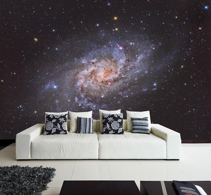 Космическая тема в интерьере - фотообои Галактика