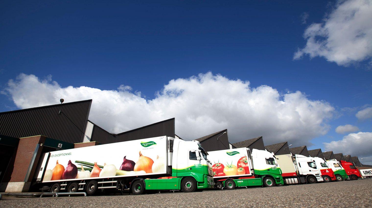 Vrachtwagens greenery