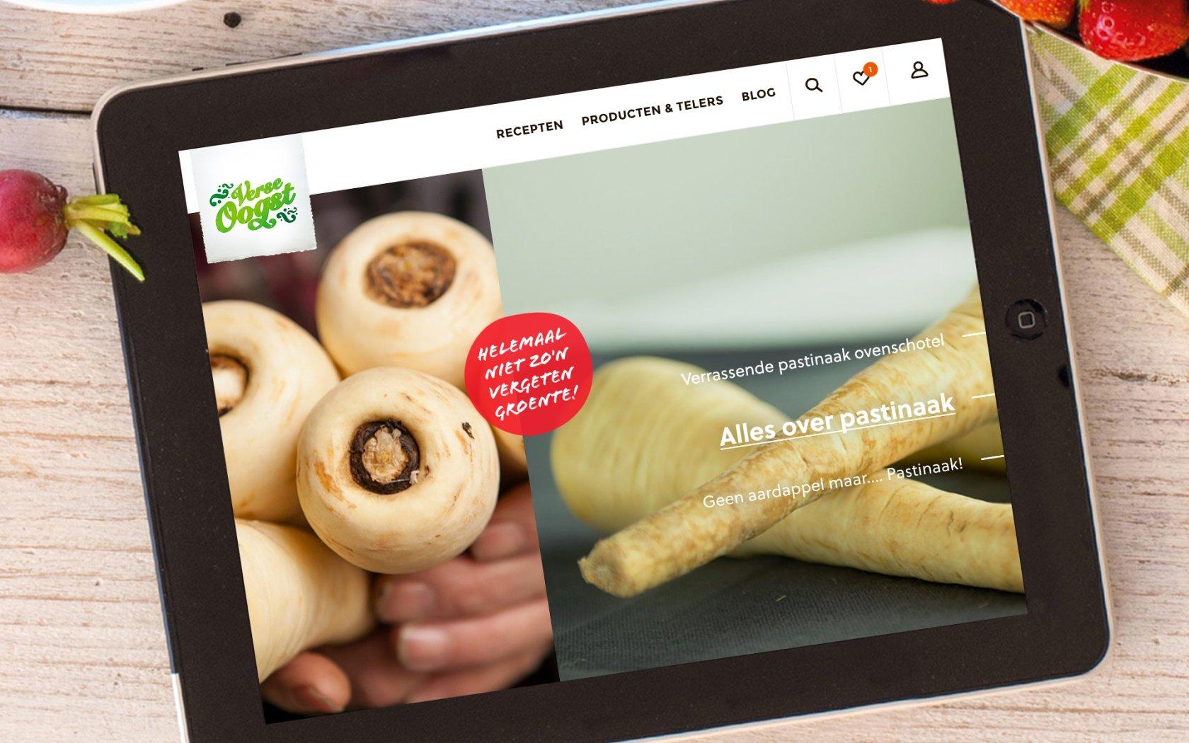 verse oogst site in macbook mockup