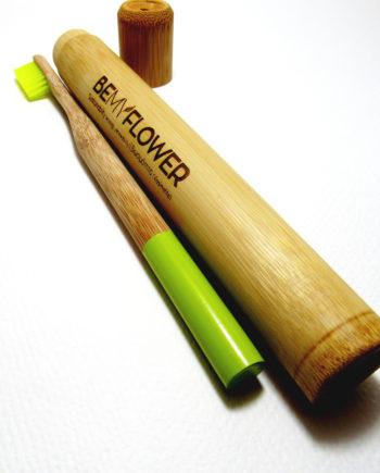 Οδοντόβουρτσα μπαμπού + θήκη ταξιδίου BeMyFlower