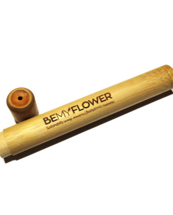 Θήκη ταξιδίου οδοντόβουρτσας από μπαμπού κυλινδρική BeMyFlower