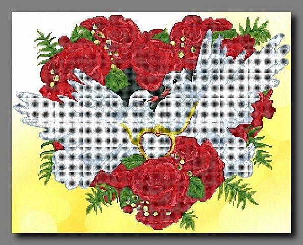 Открытка совет да любовь с голубями 23