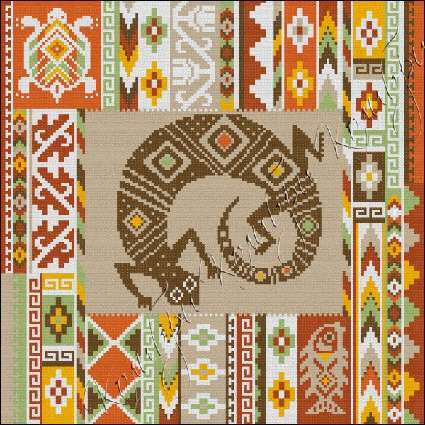 Африканский узор вышивка