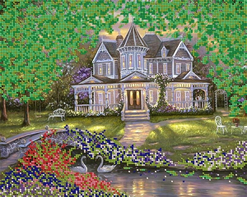 Вышивка бисером домик мечты 861