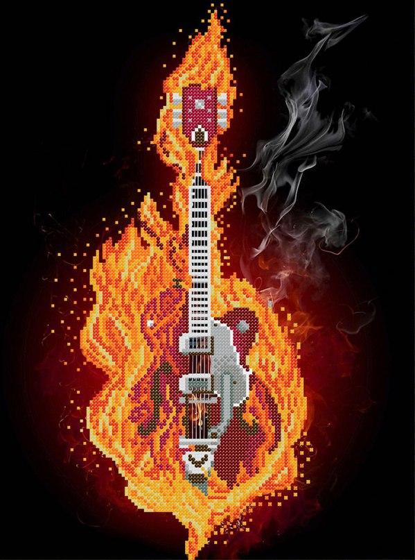 Огненная гитара схема для вышивки 746