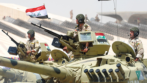 Iraqi tanks during the parade