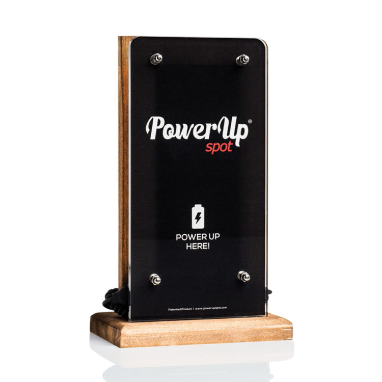 power-up-spot-tabletop-charger-customised-powerbank-cafe-restaurant-bar-hotel-natural-wood